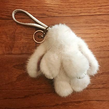 Off-brand - Bunny Key Chain - White
