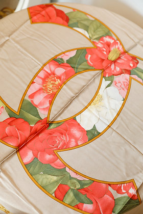 Chanel - Floral Silk Scarf