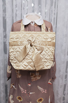 NaRaYa - Satin Quilted Tote Bag - Beige