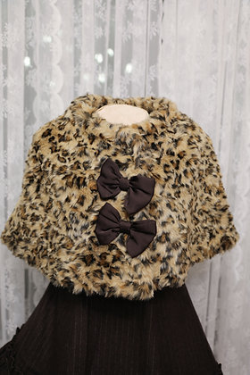 Emily Temple Cute - Leopard Fur Cape - Brown