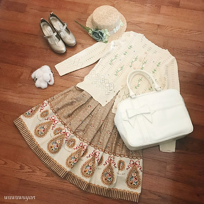 Innocent World - Roman Mosaic Skirt - Beige