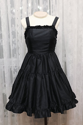 Innocent World - Tulle Lace 2 Tiered JSK - Black