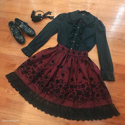 Atelier Yan - Thorn and Rose Skirt - Wine II