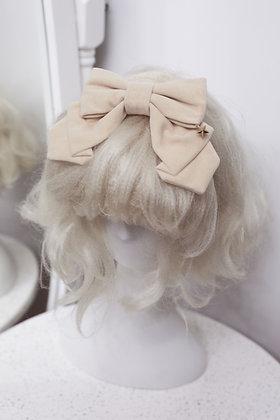 Velvet Headbow with Star - Beige