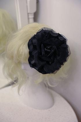 2 Way Rose Hair Clip - Black