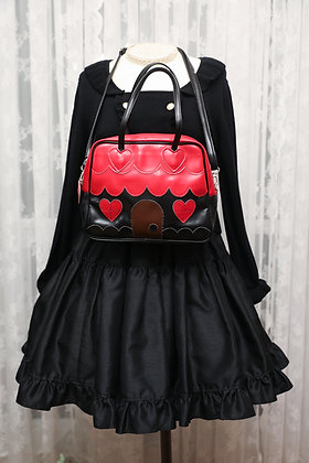 Baby, the Stars Shine Bright - My Little Red Riding Hood Bag - Black x Red