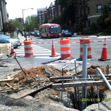Excavated TS1 foundation at 16th St & Columbia Rd NW.