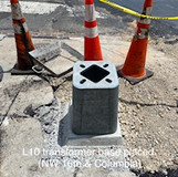 L10 transformer base placed. (NW 16th. & Columbia)