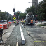 Concrete for PCC Base& Gutter at 16th St & Columbia Rd NW.