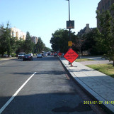 Right lane closed at  16th St between Newton St to Pine St NW.