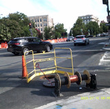 Installed wire at 16th St& Harvard St NW.