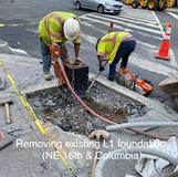 Removing existing L1 foundation. (NE 16th. & Columbia)