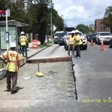 Compaction test for bus pads at 16th St &Irving St  NW.
