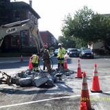 Verizon manhole adjust at 16th St and Monroe St NW.