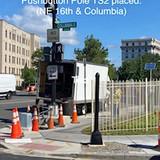 Pushbutton Pole TS4 placed. (NE 16th. & Columbia)