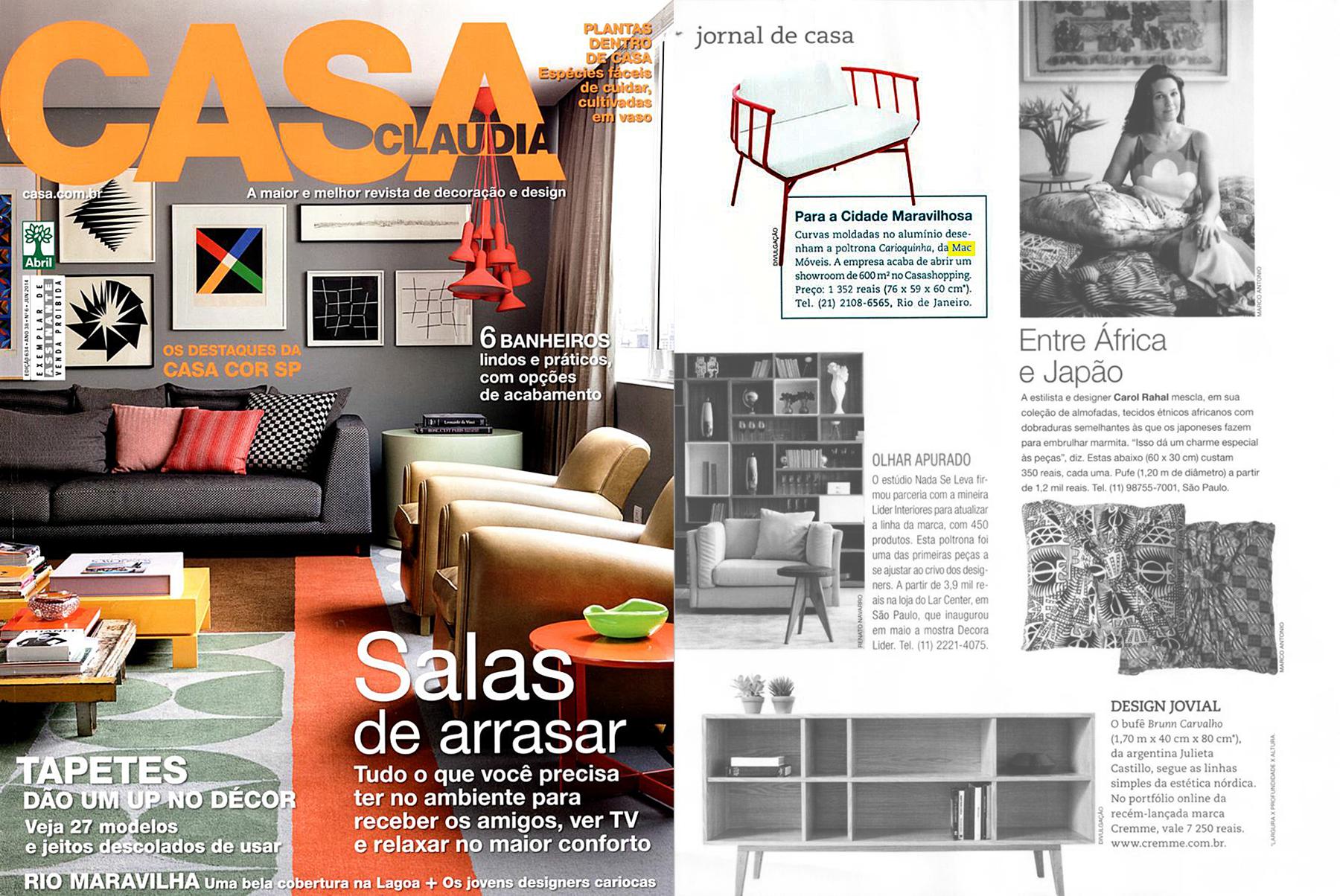 Casa Claudia nº 6 - June 2014