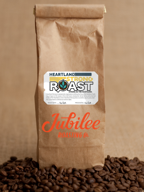 Heartland Strong coffee - a collaboration with Jubilee Roasting Co.