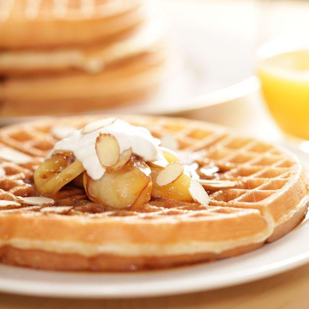 Waffles con Yogur de Coco