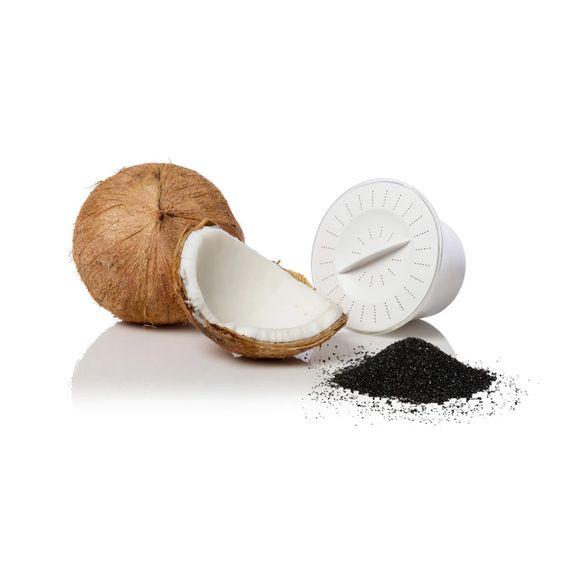 Composición carbón de cascara de coco