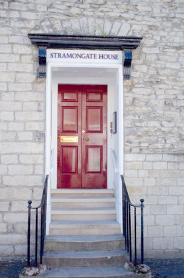 Front door to Stramongate House
