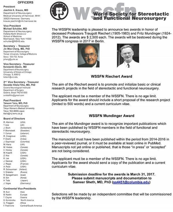 17th Quadrennial Meeting WSSFN