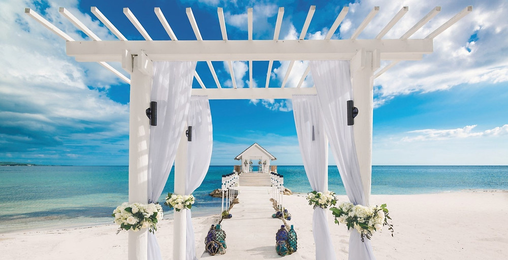 Sandals South Coast Overwater Chapel Wedding Jamaica