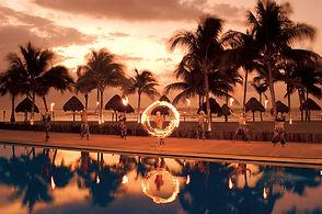 All Inclusive Dreams Tulum Resort Mexico Sunset Entertainment