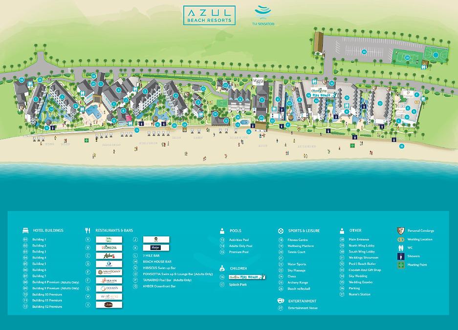 Azul Negril Jamaica Caribbean Resort Map