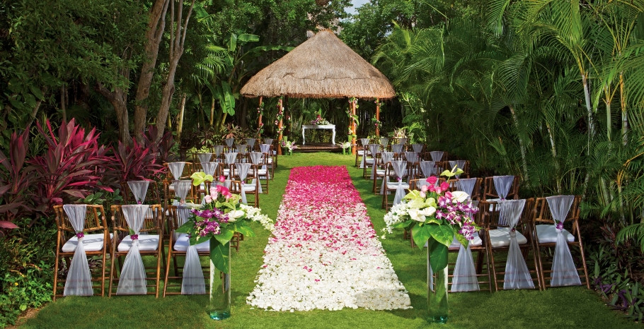 Dreams Tulum Secret Garden Wedding Ceremony Mexico