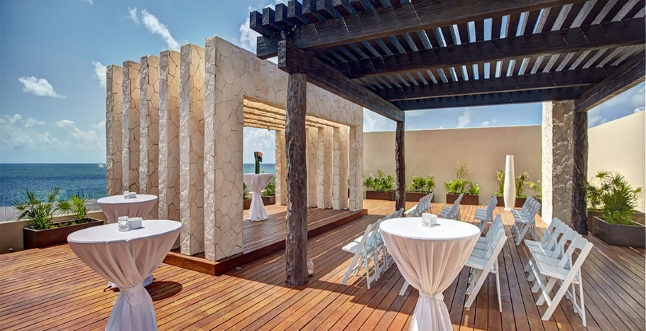 Royalton Riviera Cancun Rooftop Wedding Ceremony Mexico