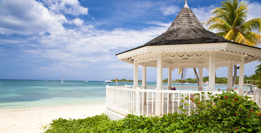 Sandals Negril Wedding Jamaica Beach Gazebo