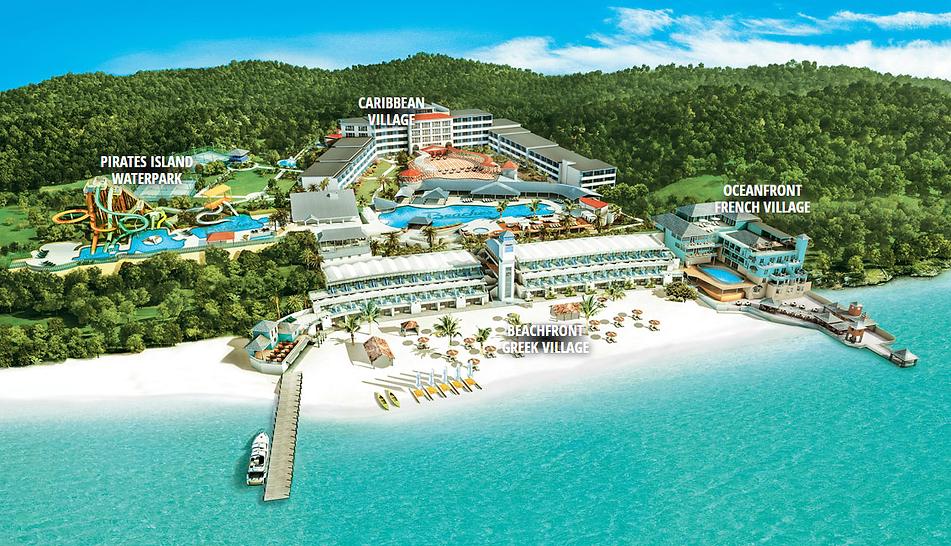 Beaches Ocho Rios Resort Map Jamaica Caribbean