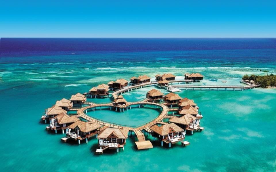 Overwater Bungalows Sandals Resorts Jamaica Caribbean EverAfter Travel Agency