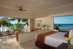 All Inclusive Dreams Tulum Resort Mexico Preferred Club Honeymoon Suite Ocean Front Room