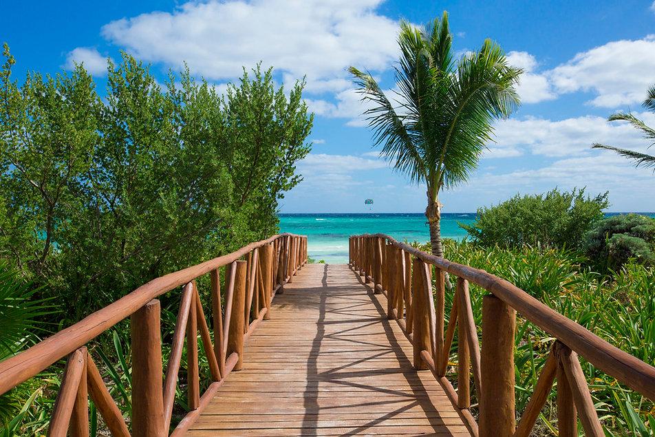 Unico Riviera Maya Resort Mexico Beach Boardwalk.JPG