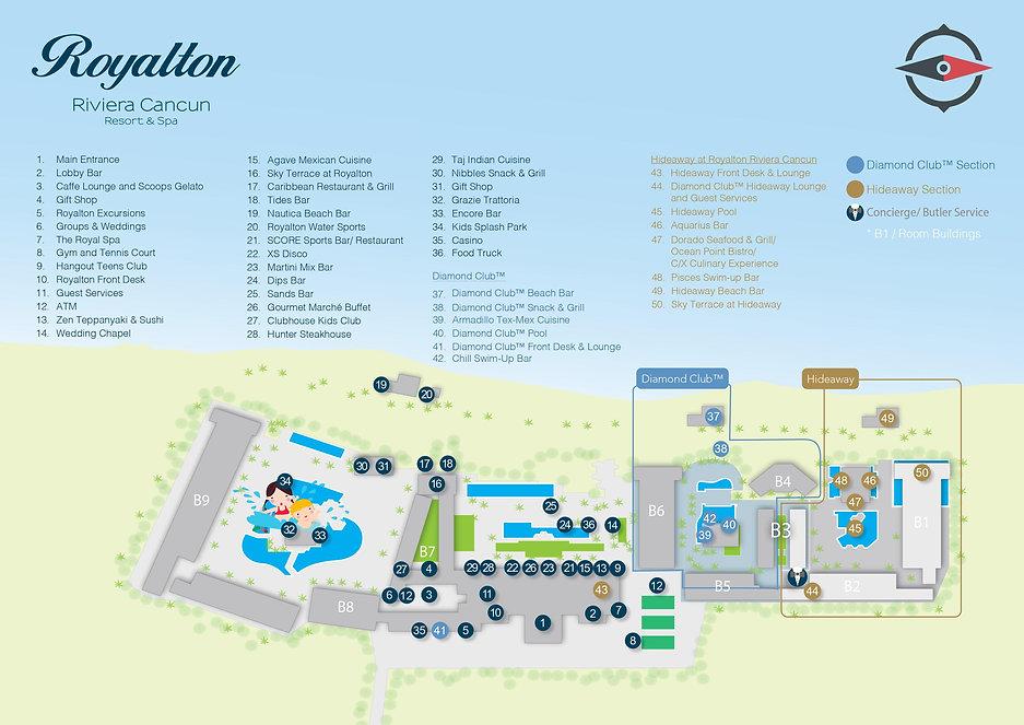 Royalton Riviera Cancun Mexico Resort Map