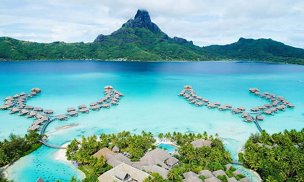 Bora Bora Tahiti Over The Water Bungalows Honeymoon