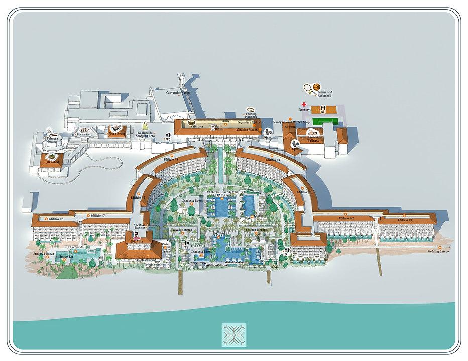 Unico Riviera Maya Mexico Resort Map