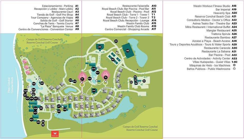 Costa Rica Resort Map