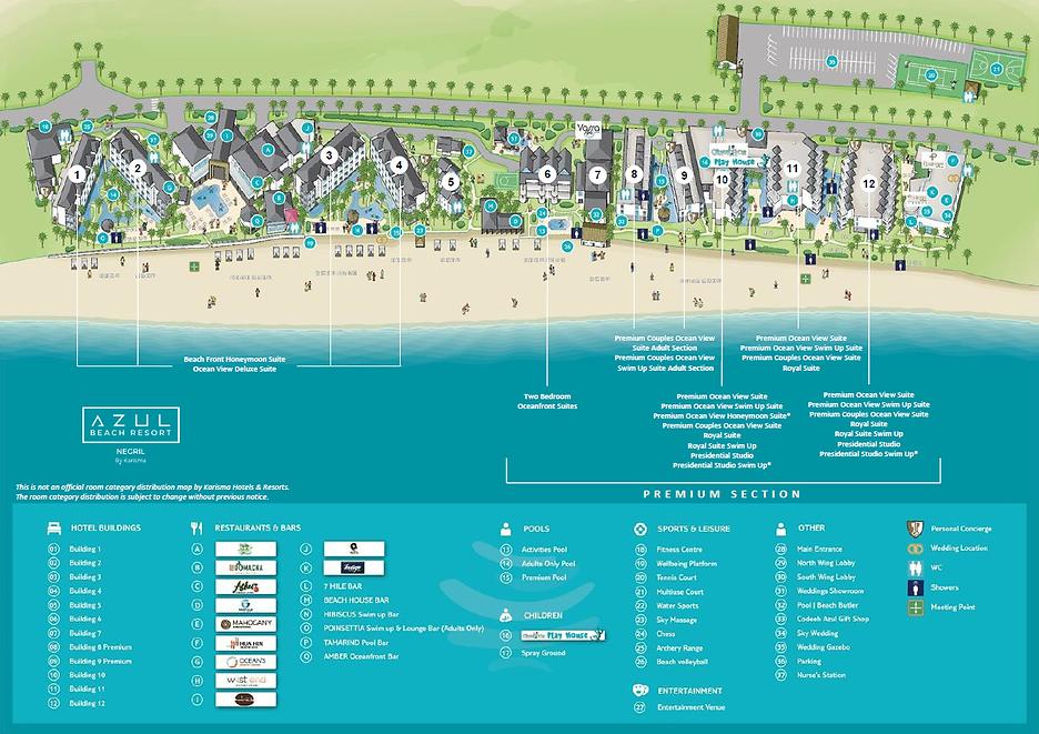 Azul Negril Jamaica Resort Map