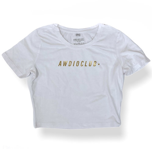 Gold Standard Crop - White - Womens Fit