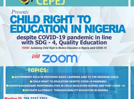 Child Right to Education amid Covid-19 in Nigeria