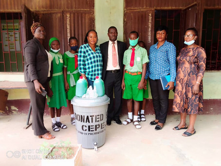 COVID-19: CEPEJ Distribute Hand -Wash Materials and Sanitizers to Schools in Lagos State