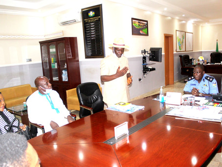 CEPEJ Delegation Visits Delta State Police Commissioner at Command Headquarters in Asaba...