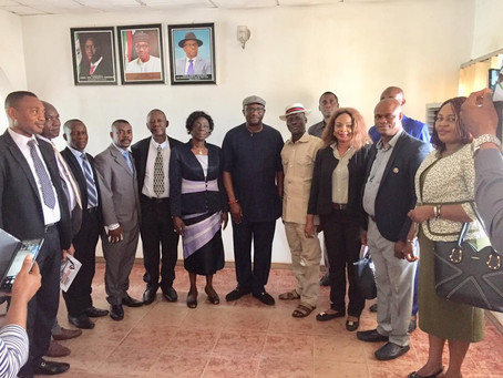 CEPEJ Team Visits Delta State Ministry of Oil and Gas in Asaba