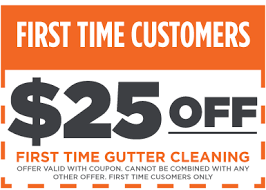 25 dollars off your gutter clean