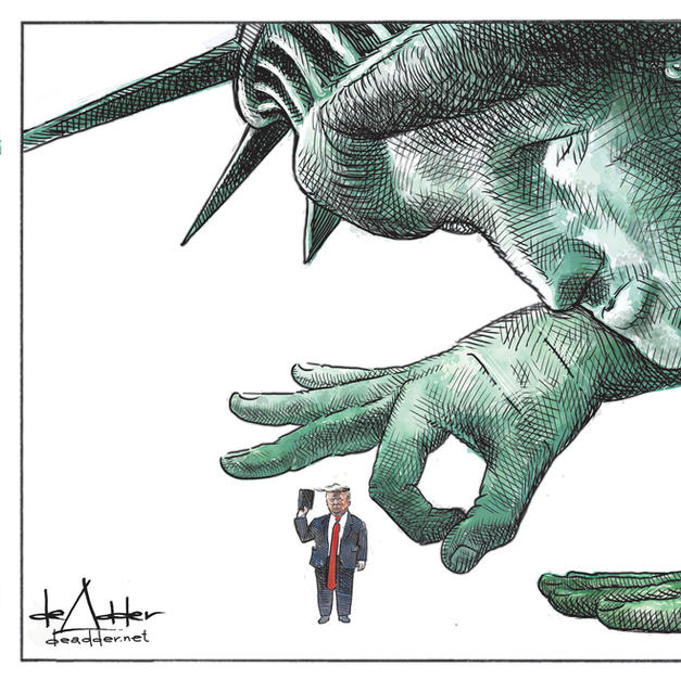 Liberty gives Trump the finger