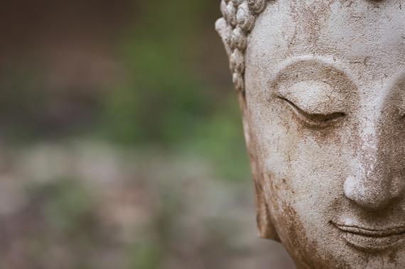 buddha statue in wat umong, chiang mai,