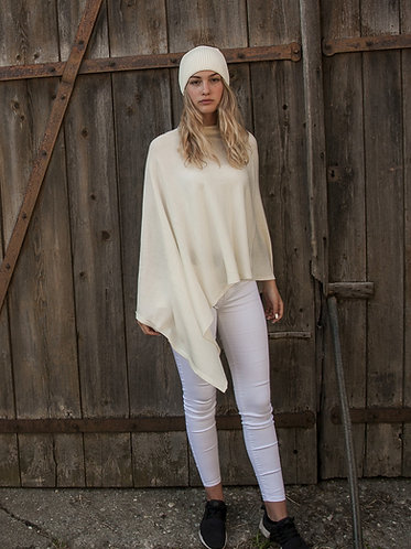 Mod.113. PONCHO in 100% COTTON.