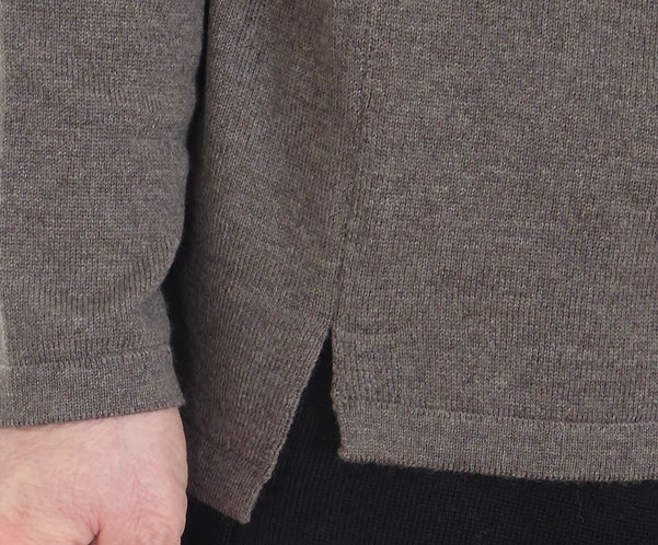 Mod.FM1L.SWEATER in 100% ECO LINEN,NATURAL COLOR.